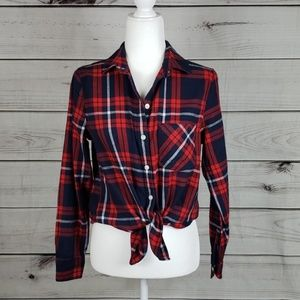 NWT Old Navy • PM shirt flannel plaid red/blue
